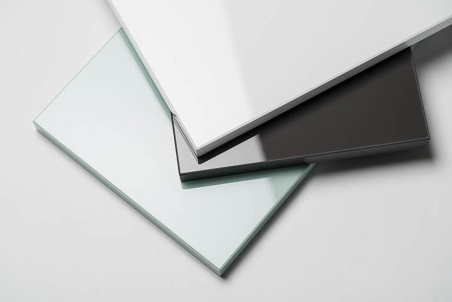 hvite acryl plater